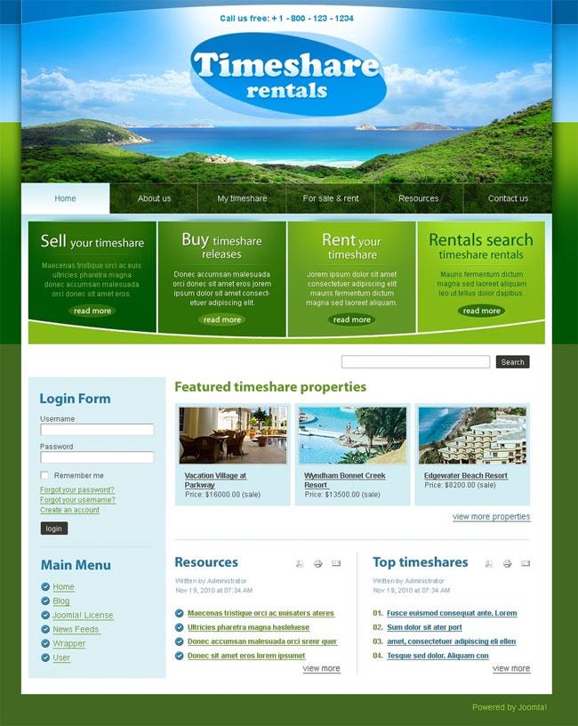 Timeshare-Rentals-Travel-Joomla-Template