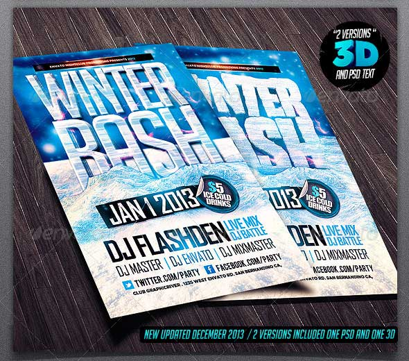 Winter-Bash-PSD-Flyer