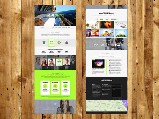 30 Free Psd Portfolio Website Templates Designmaz