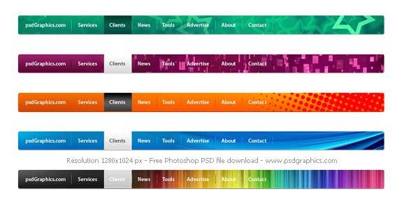 free-psd-navigation-menus-design
