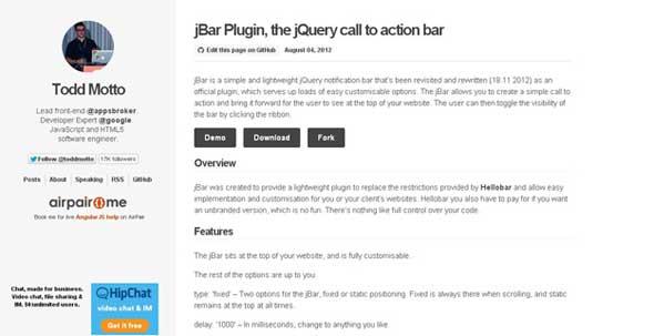 jBar-Plugin