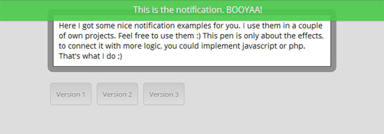 jQuery Notifications bar