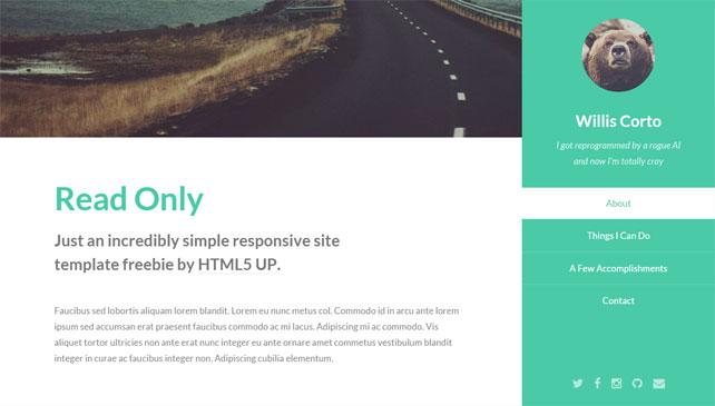 read-only-free-responsive-portfolio-html5-template
