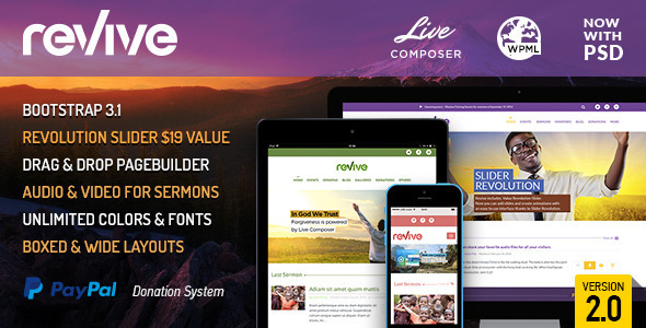 revive-events-donations-wordpress-theme