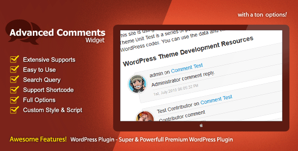 Advanced Comments Widget