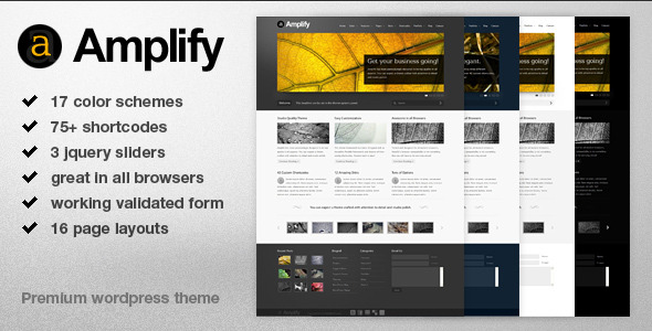 Amplify - Premium Business, Blogging & Portfolio