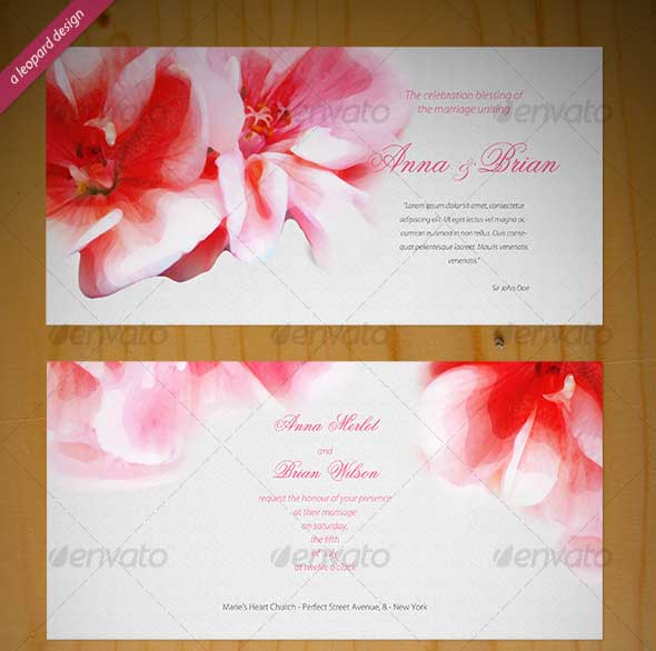 40 best wedding invitation psd templates designmaz beautiful wedding invitation stopboris Choice Image
