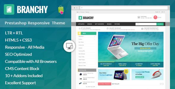 Branchy - Prestashop Responsive Theme