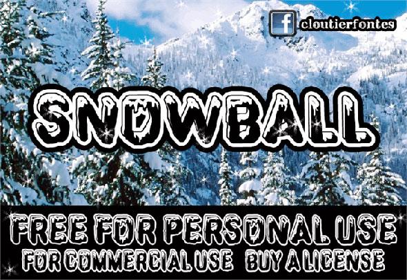 CF-SnowBall-font