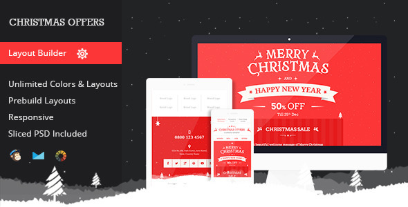 25 Best Christmas Email Newsletter Templates 2016 DesignMaz – New Year Email Template