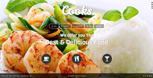Cooks - Restaurant Responsive HTML Template