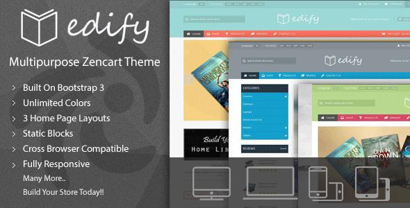 Edify - Responsive Zencart Theme