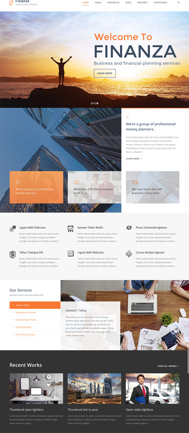 Finanza-Financial-WordPress-Theme