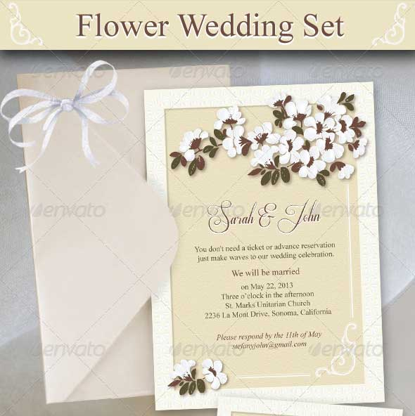 Flower-Wedding-Set