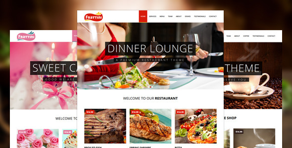 Frattini-A Premium Restaurant, Cakes and Coffee Shop Template