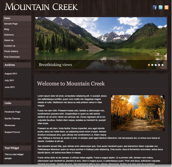 Free-Mountain-Creek-WordPress-Responsive-Theme