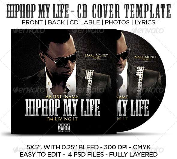 Hip-Hop-My-Life-CD-Cover-Template
