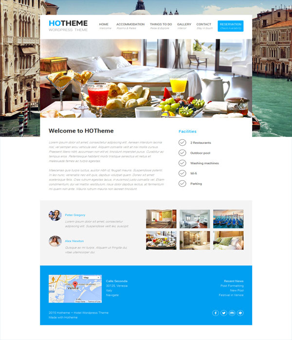 10+ Best Free Hotel WordPress Themes 2017 - DesignMaz