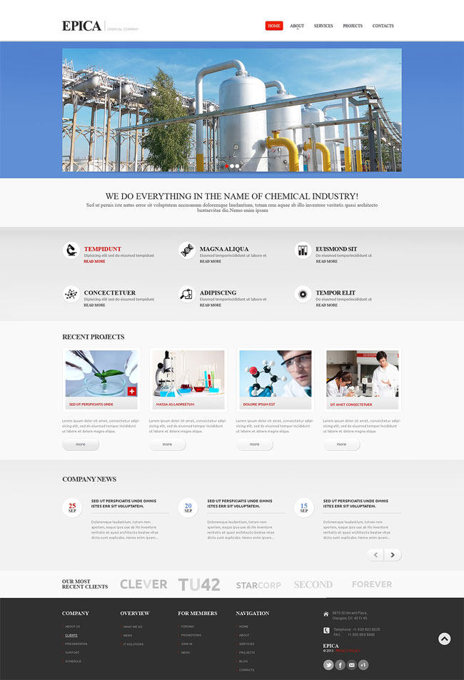 Industrial-Responsive-Website-Template