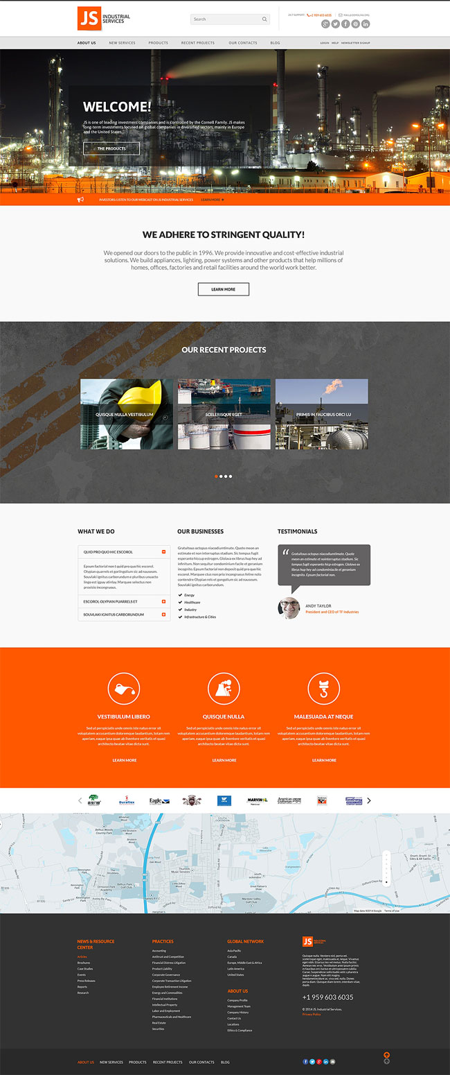 Industrial-Services-Responsive-Website-Template