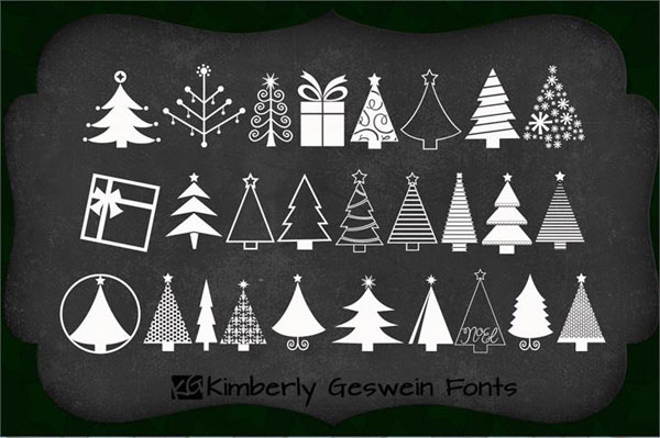 KGChristmasTrees-font