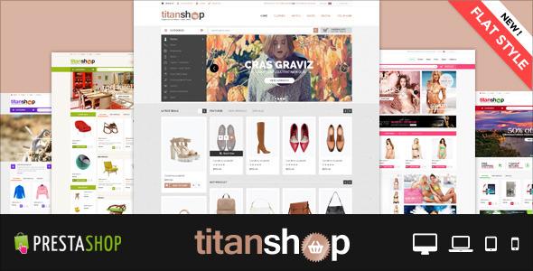 Mega Responsive Prestashop Theme - TitanShop