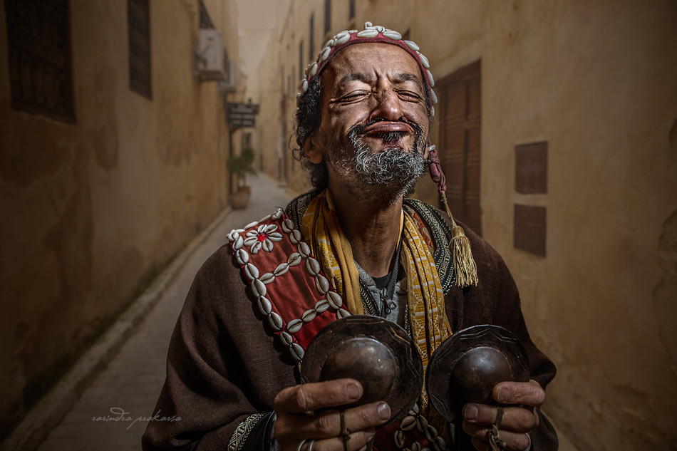 Morocco street musician