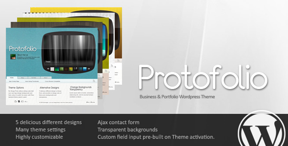Protofolio Business & Portfolio WordPress - 5 in 1