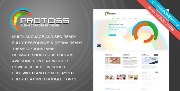 Protoss Clean Corporate Theme For WordPress