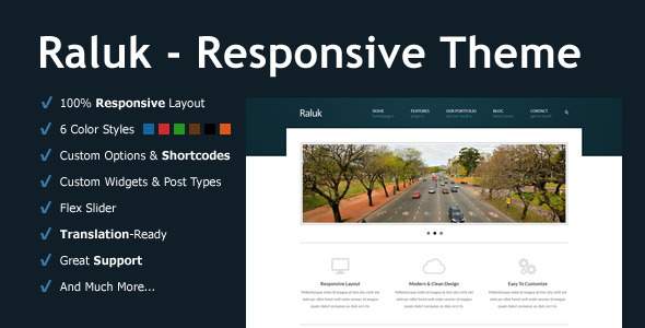 Raluk - Responsive Business Theme