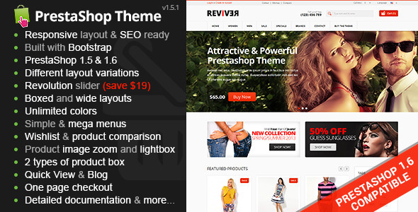 Reviver - Responsive Multipurpose PrestaShop Theme