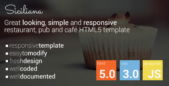 Siciliana - restaurant & coffee html5 template
