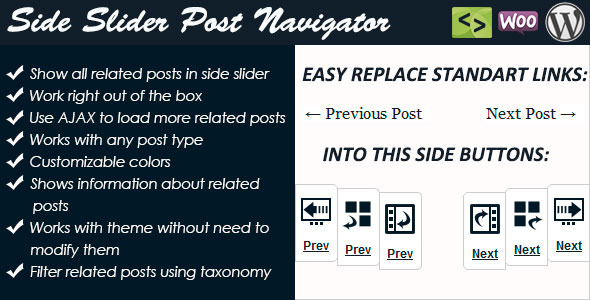 Side Slider Post Navigator