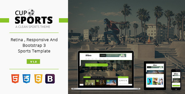 Sports Cup - Bootstrap 3 Responsive Html Theme