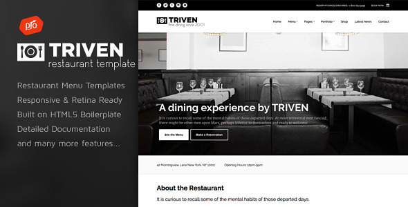 Triven - Restaurant & Winery Site Template