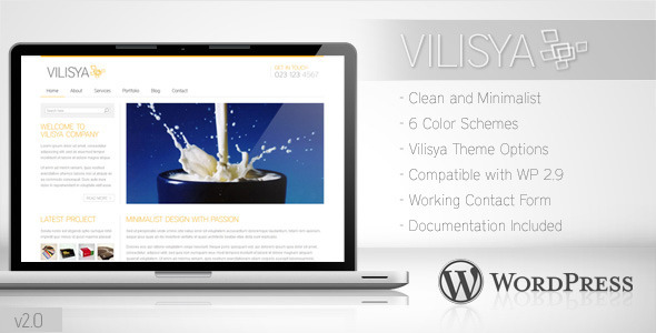 Vilisya - Minimalist Business WordPress Theme