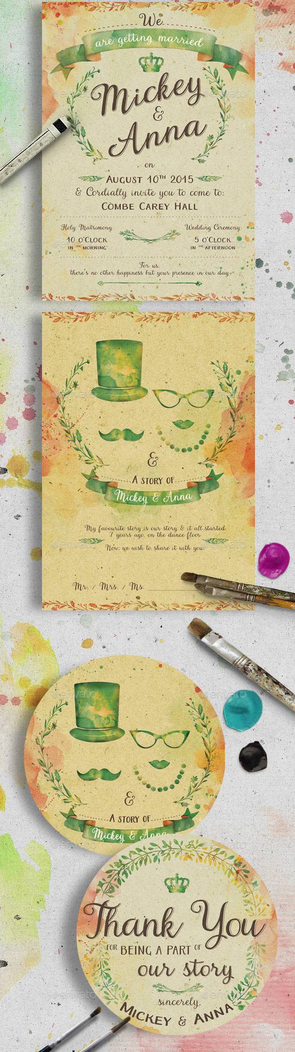 Watercolor-Wedding-Invitation-PSD-Set