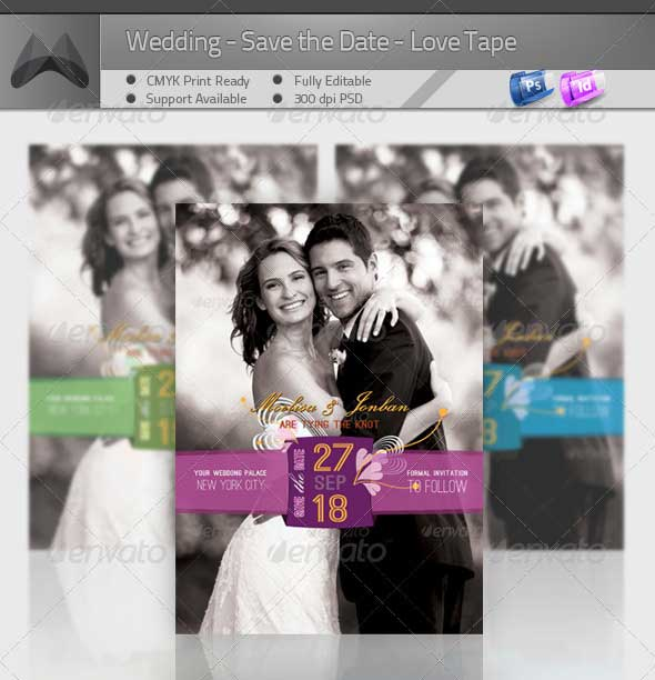 Wedding---Save-the-Date---Love-Tape