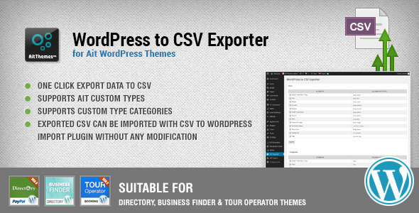 WordPress to CSV Export Plugin