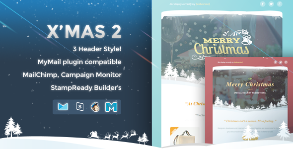 X'mas 2 - Responsive Email Template