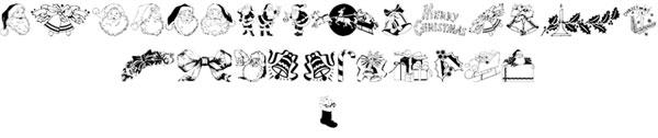 Xmas-Clipart-font