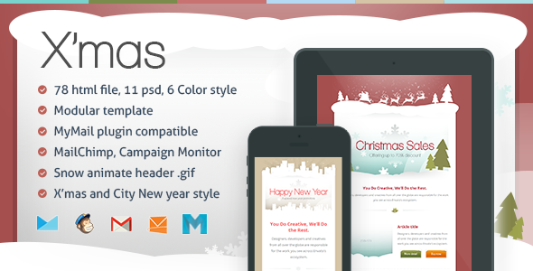 X'mas - Responsive Email Template