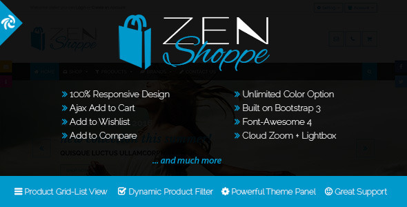 Zenshoppe - Responsive Zencart Theme