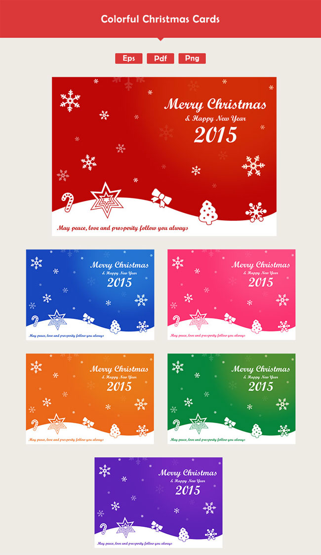 colorful-christmas-card-vectors