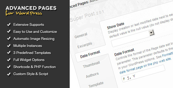 Advanced Pages Widget - WordPress Premium Plugin