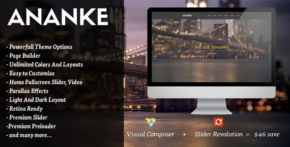 Ananke - One Page Parallax WordPress Theme