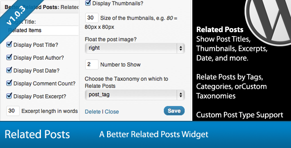 Better Related Posts Widget