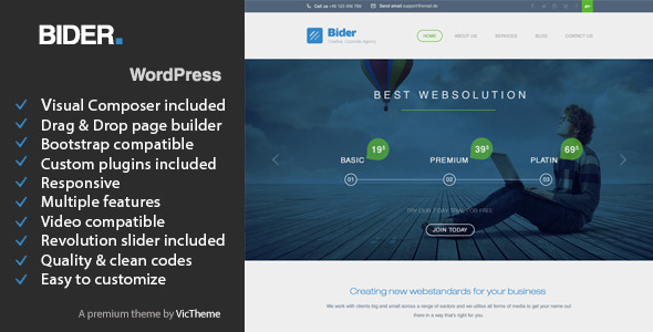 Bider - Multipurpose Business WordPress Theme