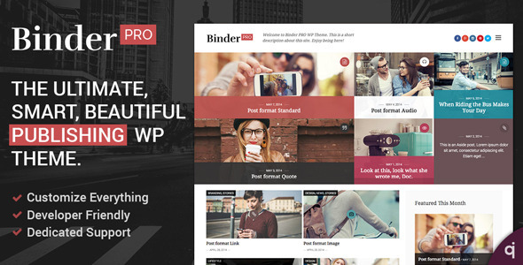 Binder PRO - Publishing Multi-Purpose WP Theme