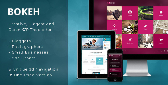 Bokeh-WordPress Theme for Blog & Business